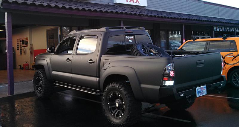 Black Matte Wrap on Truck by Sun Diego Wraps