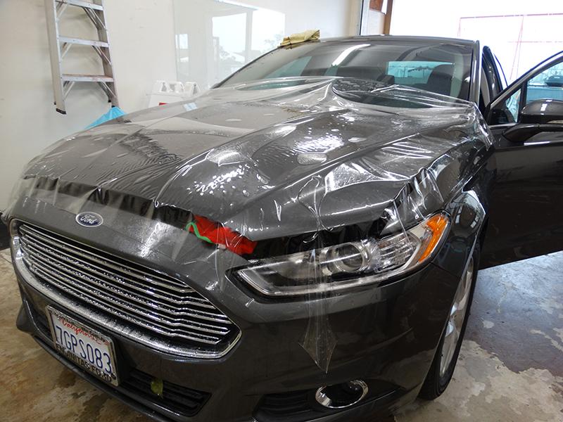 Clear Bra installation on Ford by Sun Diego Wraps